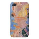 Edvard Munch - alta pintura del verano iPhone 4 Carcasa