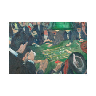 Edvard Munch - At the Roulette Table Canvas Print