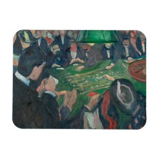 Edvard Munch - At the Roulette Table Magnet