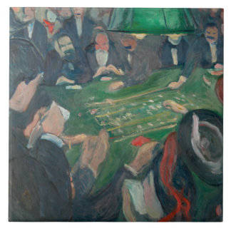 Edvard Munch - At the Roulette Table Tile