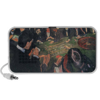 Edvard Munch - by the roulette Painting iPod Speaker