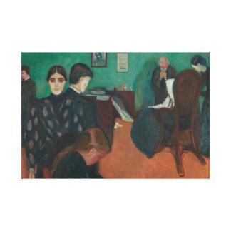 Edvard Munch - Death in the Sickroom Canvas Print