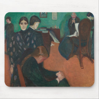 Edvard Munch - Death in the Sickroom Mouse Pad