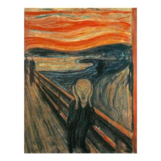 Edvard Munch - el grito Flyer Personalizado