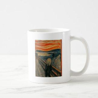 Edvard Munch - el grito Taza Básica Blanca