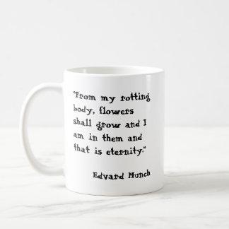 Edvard Munch - eternidad Taza Básica Blanca