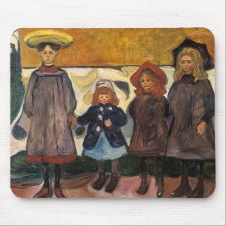 Edvard Munch - Four Girls in Asgardstrand Mouse Pad