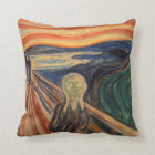 Edvard Munch Iconic The Scream Painting Throw Pillow