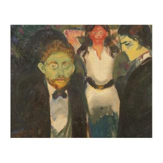 Edvard Munch - Jealousy Wood Print