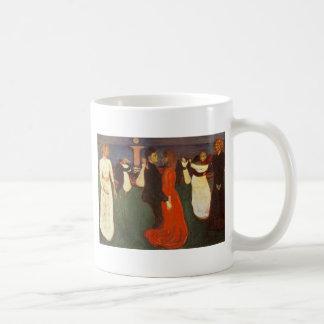 Edvard Munch - la danza de la vida Taza Básica Blanca