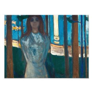 Edvard Munch - la voz, noche de verano Cojinete