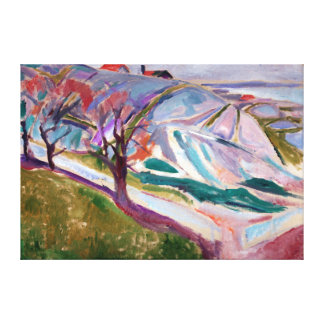 Edvard Munch Landscape, Kragerø Canvas Print