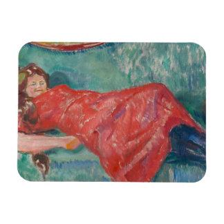 Edvard Munch - On the Sofa Magnet