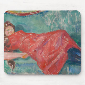 Edvard Munch - On the Sofa Mouse Pad