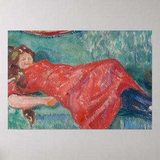 Edvard Munch - On the Sofa Poster
