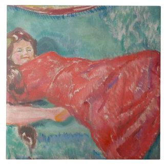 Edvard Munch - On the Sofa Tile
