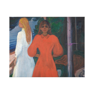 Edvard Munch - Red and White Canvas Print