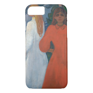 Edvard Munch - Red and White iPhone 8/7 Case