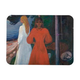 Edvard Munch - Red and White Magnet