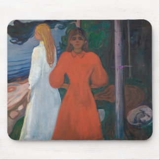Edvard Munch - Red and White Mouse Pad