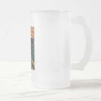 Edvard Munch's The Scream 16 Oz Frosted Glass Beer Mug