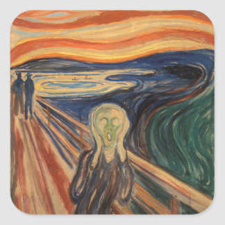 Edvard Munch's The Scream Square Sticker