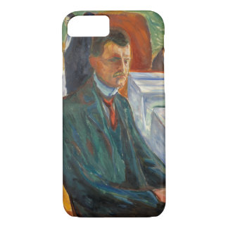 Edvard Munch - Self-Portrait with a Bottle of Wine iPhone 8/7 Case