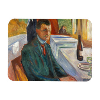 Edvard Munch - Self-Portrait with a Bottle of Wine Magnet