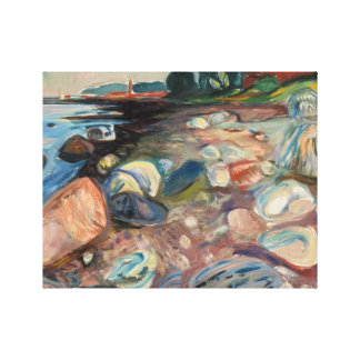 Edvard Munch - Shore with Red House Canvas Print