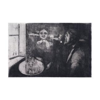Edvard Munch Tête-à-tête Canvas Print
