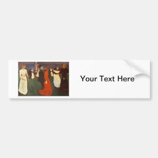 Edvard Munch - The Dance Of Life Bumper Sticker