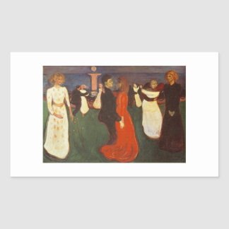 Edvard Munch - The Dance Of Life Rectangular Sticker