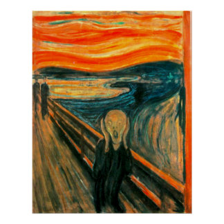 EDVARD MUNCH - The scream 1893 Poster