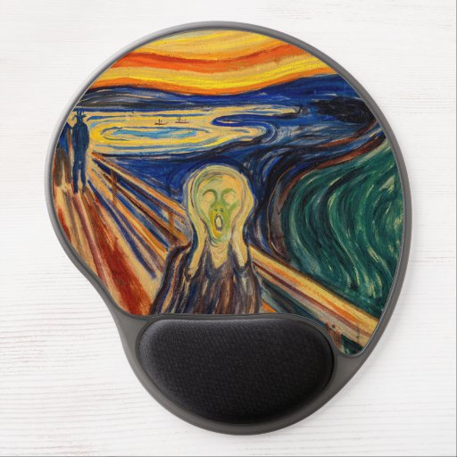 Edvard Munch - The Scream 1910 Gel Mouse Pad