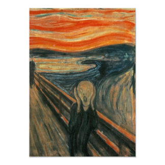 Edvard Munch - The Scream Card