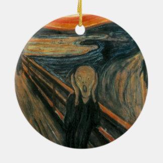 Edvard Munch - The Scream Ceramic Ornament