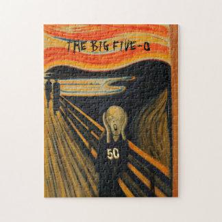 Edvard Munch - The Scream I'm Turning 50 Puzzle