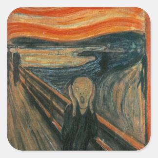 Edvard Munch - The Scream Square Sticker