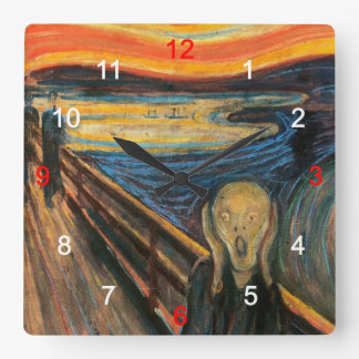 "Edvard Munch, ""The Scream"" Square Wall Clock"
