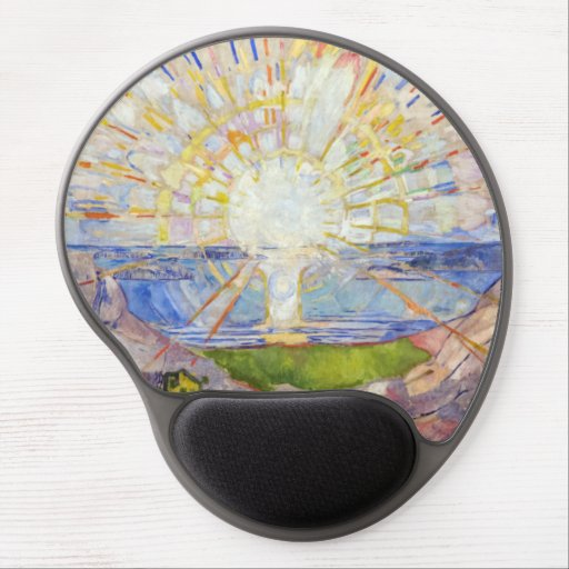 Edvard Munch - The Sun 1911 Gel Mouse Pad