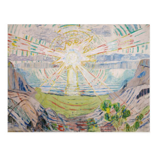 Edvard Munch - The Sun Postcard
