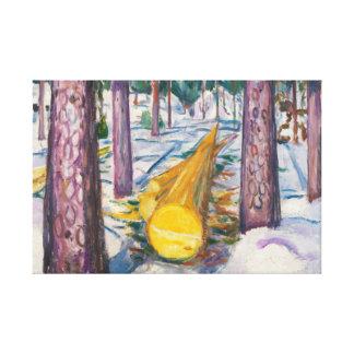 Edvard Munch - The Yellow Log Canvas Print