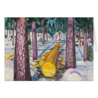 Edvard Munch - The Yellow Log Card