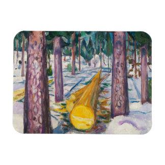 Edvard Munch - The Yellow Log Magnet