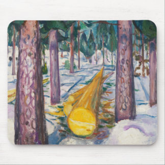 Edvard Munch - The Yellow Log Mouse Pad