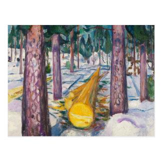 Edvard Munch - The Yellow Log Postcard