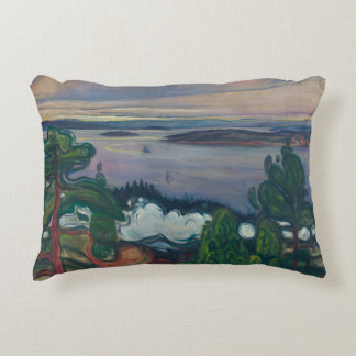 Edvard Munch - Train Smoke Accent Pillow