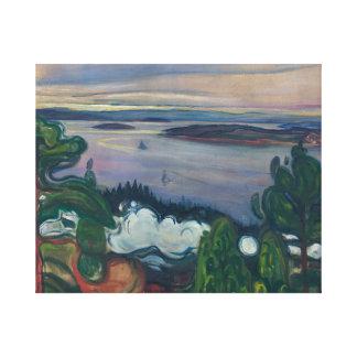 Edvard Munch - Train Smoke Canvas Print
