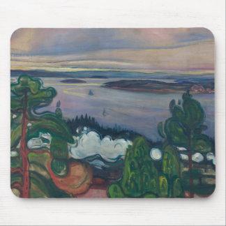 Edvard Munch - Train Smoke Mouse Pad