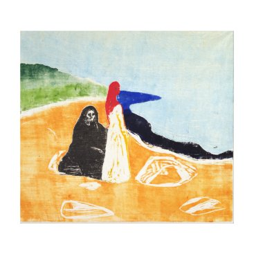 Beach Themed Edvard Munch Two Women on the Shore Canvas Print